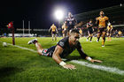 David Fusitu'a of the Warriors scores a try during the round 13 NRL match between the New Zealand Warriors and the Brisbane Broncos at Mt Smart Stadium last week. Photo / Getty Images