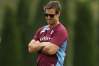 Andrew Johns looks on during a Manly Sea Eagles NRL training session in 2013. Photo/Getty.