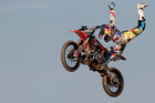 Levi Sherwood of New Zealand in action during the Red Bull X-Fighters World Tour. Photo / Getty Images