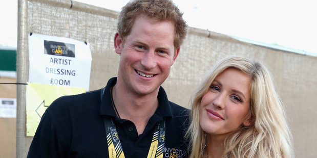Prince Harry with Ellie Goulding backstage at the Invictus Games Closing Ceremony on September 14, 2014. Photo / Getty Images