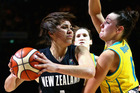 Kalani Purcell drives to the basket against Australia. Photo / Getty Images