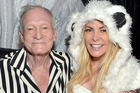 Hugh Hefner and Crystal during a Halloween Party at the Playboy Mansion in Los Angeles. The mansion has reportedly been sold. Photo/Getty