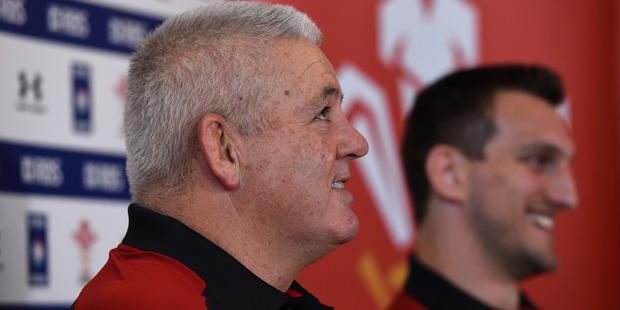 Loading Wales coach Warren Gatland and captain Sam Warburton face the media. Photo / Getty