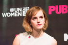 United Nations Women ambassador Emma Watson speaks during an event held on International Women's Day. Photo / Getty Images