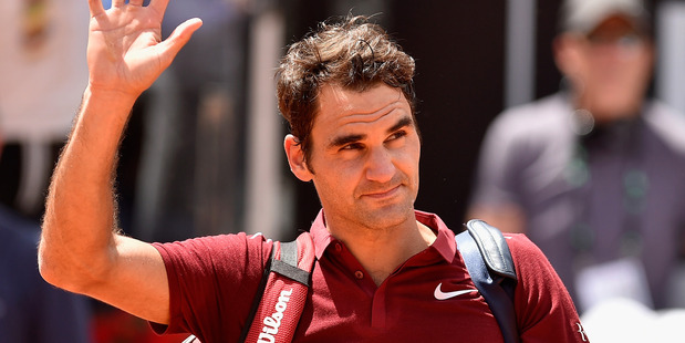 Roger Federer after his match against Dominic Thiem at Internazionali BNL d'Italia. Photo / Getty Images
