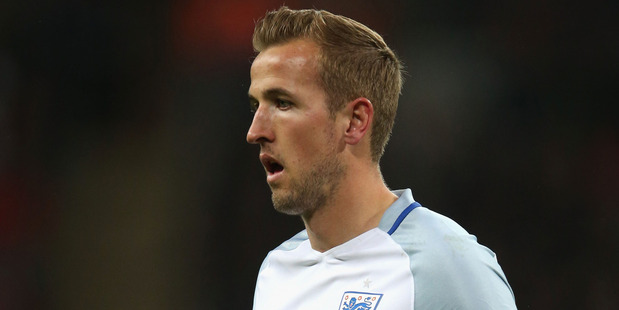 England striker in action during a friendly against Portugal at Wembley Stadium on Friday morning (NZT). Photo / Getty Images