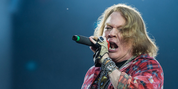 US singer Axl Rose has been touring with Australian band AC/DC. Photo / Getty Images