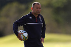 England head coach Eddie Jones looks on during his team's training session. Photo / Getty