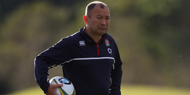 Loading England head coach Eddie Jones looks on during his team's training session. Photo / Getty