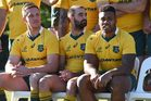 New Wallabie players Dane Haylett-Petty, Nick Frisby and Samu Kerevi. Photo / Getty Images