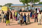 Children play in the Dalori Internally Displaced People's (IDP) Camp for people displaced by Boko Haram violence. Photo / Getty Images