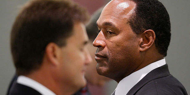OJ Simpson during the first day of jury selection for his trail following an attempted robbery at the Palace Station Hotel & Casino in September, 2007. Photo / Getty