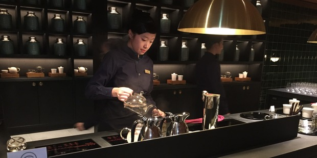 Loading The Tea House, inside Cathay Pacific's The Pier lounge. Photo / Grant Bradley