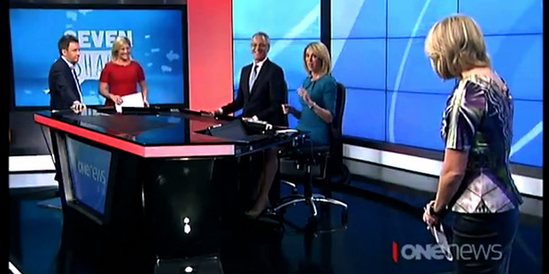 The team at One News won the award for most awkward banter of the week.