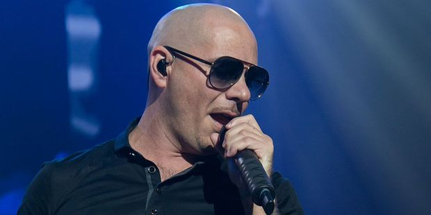 Rapper Pitbull made a surprise appearance as one of his songs was played over the Chilean national anthem during Copa America 2016. Photo / Getty