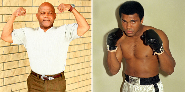 Precious McKenzie says he owes his fame to his first meeting with Muhammad Ali. Photos / Martin Sykes, AP