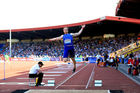 Greg Rutherford of Great Britain competes in the mens long jump during the Birmingham Diamond League Athletics meeting at Alexander Stadium on June 5, 2016. Photo / Getty Images