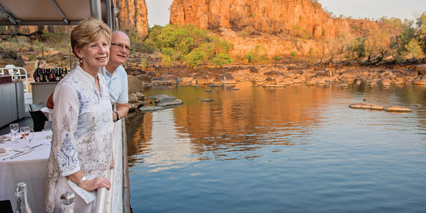Make sure you're with a loved one onboard the Nabilil Dreaming Sunset Dinner Cruise. Photo / Tourism NT