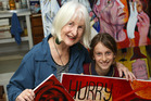 Margaret Lawlor-Bartlett  and her grand-daughter Mila Vanderlaan have collaborated for the exhibition. Photo / Doug Sherring