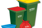 The new kerbside rubbish and collection containers.