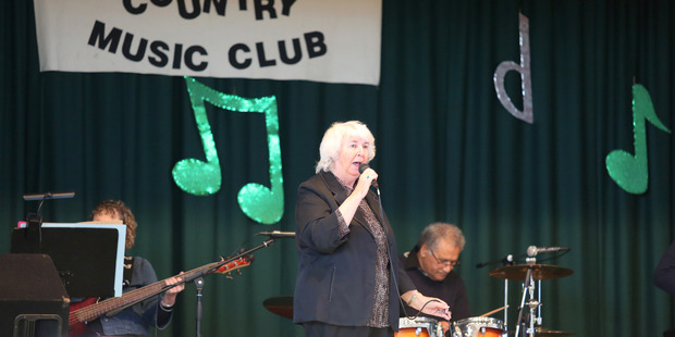 Bev Goile from Hawera performs at the Rangitikei Country Music Club's awards. PHOTO/BEVAN CONLEY