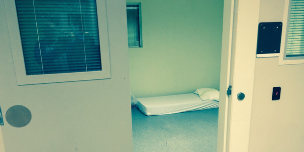An example of a seclusion room at a government-run mental health facility. Ashley Peacock is being held in a room similar to this. His parents have never been allowed inside. Photo / Supplied