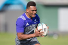 Seta Tamanivalu, during an All Blacks training session. Photo / Brett Phibbs