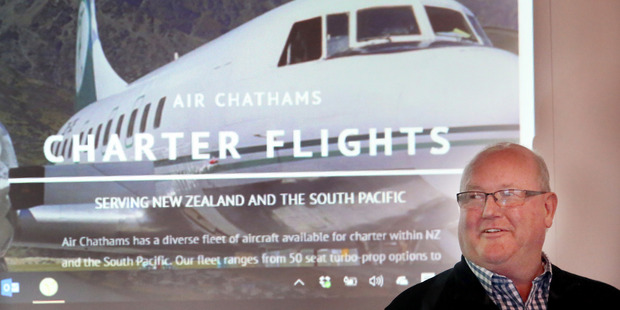 FLIGHT OPTIONS: Air Chathams chief executive Craig Emeny said the company was looking forward to being involved with the Whanganui market. PHOTO/ STUART MUNRO