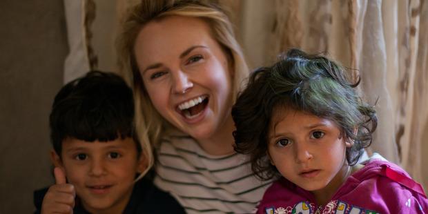 Kim Crossman met these children in Irbid in the north of Jordan. Photo / World Vision