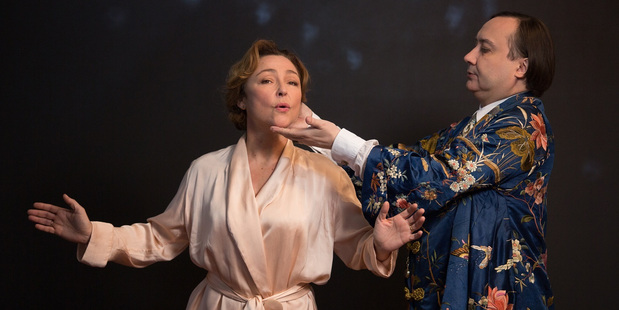 Catherine Frot with co-star Michel Fau.