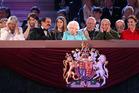 Queen Elizabeth II observes her 90th birthday festivities. Photo / AP