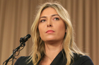 Maria Sharapova speakings about her failed drug test at the Australia Open. Photo / AP