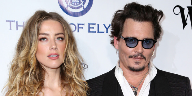 Amber Heard filed for divorce from Johnny Depp last month. Photo / AP