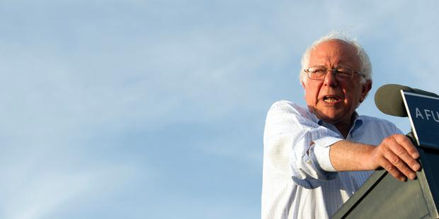 Bernie Sanders speaks at a rally in Washington. Photo / AP