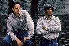 Tim Robbins and Morgan Freeman star in the movie The Shawshank Redemption.