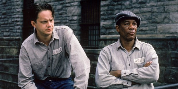 Loading Tim Robbins and Morgan Freeman star in the movie The Shawshank Redemption.