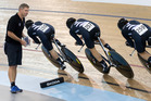 The New Zealand women's pursuit team have improved by almost four-and-a-half seconds since last year under coach Brendon Cameron. Photo / Alan Gibson