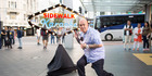 Hamua Nikora hosts New Zealand's Sidewalk Karaoke. Photo / Supplied