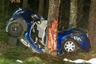 Scene of a fatal crash on Dun Road at Kaingaroa Village south of Rotorua. Photo / Ben Fraser
