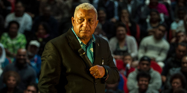 Prime Minister Frank Bainimarama, pictured in Auckland in 2014, thanked New Zealand for its response to Cyclone Winston. Photo / Michael Craig