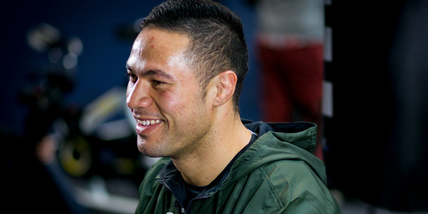 Joseph Parker during a workout before his last fight against Carlos Takam. Photo / Dean Purcell