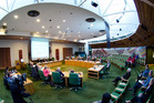 Rotorua Lakes Council meeting. Photo / Stephen Parker