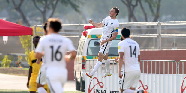 Skipper Chris Wood, who has scored four goals in the All Whites' Nations Cup campaign, will miss Saturday's final to attend his sister's wedding. Photo: Shane Wenzlick / Phototek