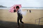 Tourists battle wild weather in Sydney. Photo / Getty