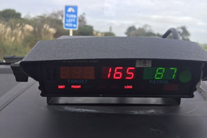 Police say drivers like the man caught allegedly at 165km/h seem to have no regard for others' lives.