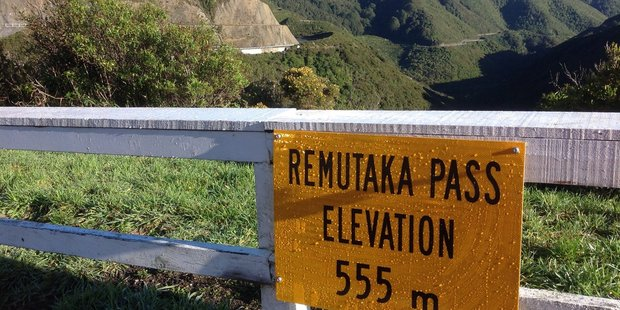 The Remutaka Pass sign that has been placed at the summit of the Rimutaka hill. PHOTO/SUPPLIED