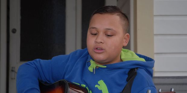 Jerome Lopa, 13, of Masterton has been given the opportunity to sing and perform a half-hour set at Gizzy Day (Gisborne Day) in Brisbane next year. PHOTO/EMILY NORMAN