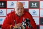 Wales rugby press conference this afternoon featuring assistant coach Shaun Edwards & centre Jonathan Davies.