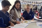 Three of Auckland Normal Intermediate's teachers are quite excited. Clara Kim, Alicia England and Ben Griffiths have just shown a group of Epsom Girls Grammar teachers around their school and will go on a a reciprocal trip the following day.