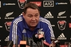 All Blacks coach Steve Hansen commenting on his liking to rugby league and watching the Warriors.